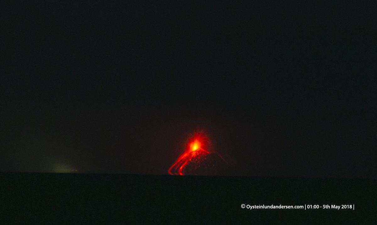 Krakatau from dari anyer volcano krakatoa volcano indonesia