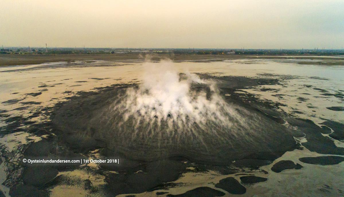 2018 Lusi Lumpur Sidoarjo Mudvolcano Mud Indonesia Sidoarjo Indonesia drone aerial