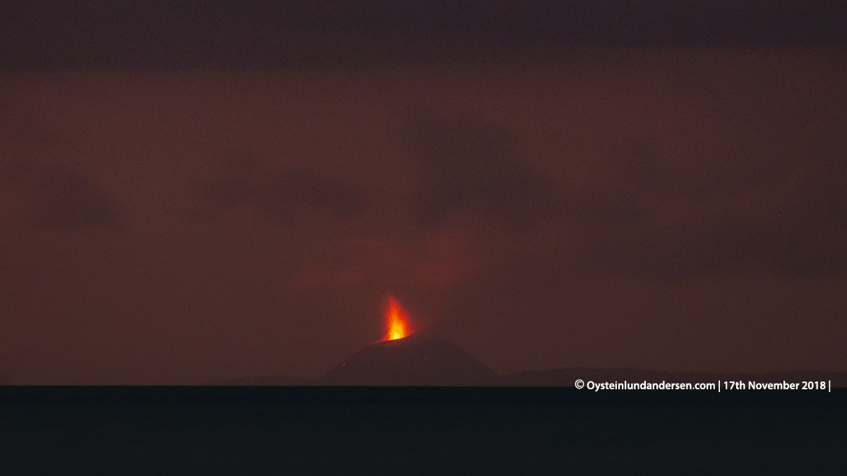 Krakatau Krakatoa eruption november 2018 anyer carita indonesia