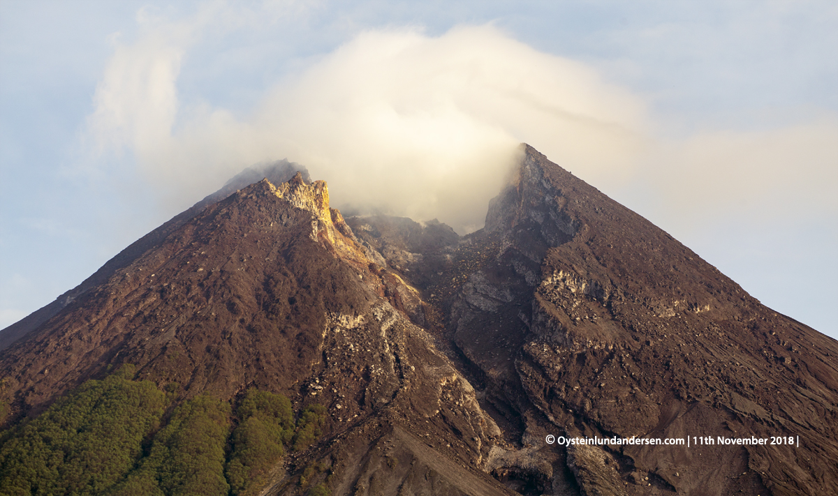 Merapi Volcano Java 2018 November lava-dome