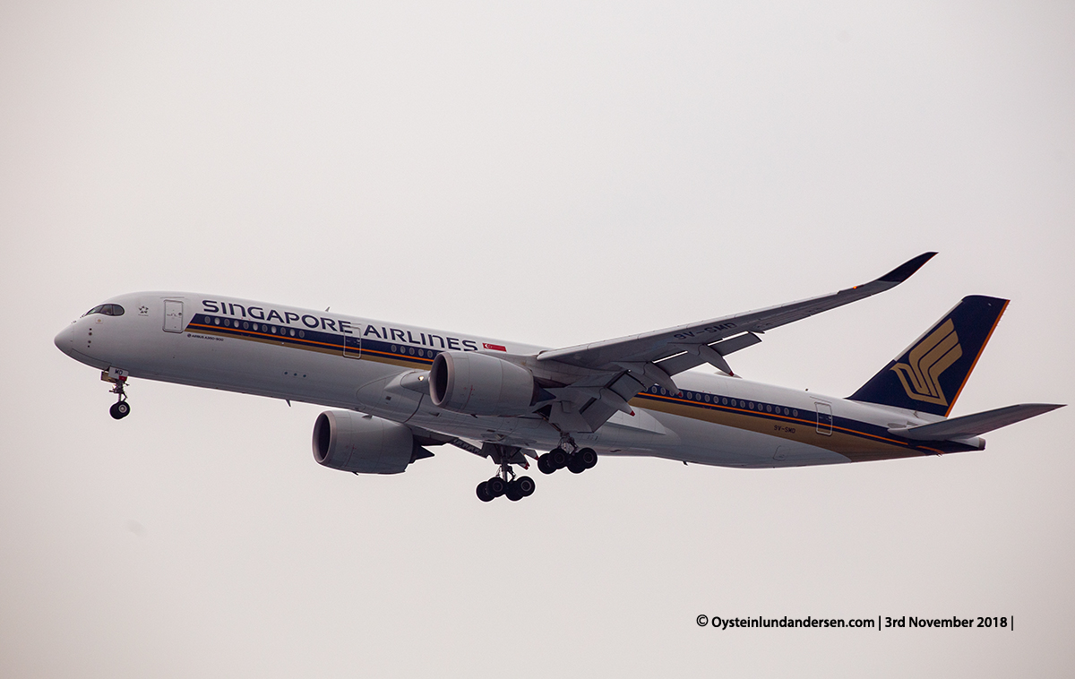 Singapore Airlines Airbus 350-900 9V-SMD
