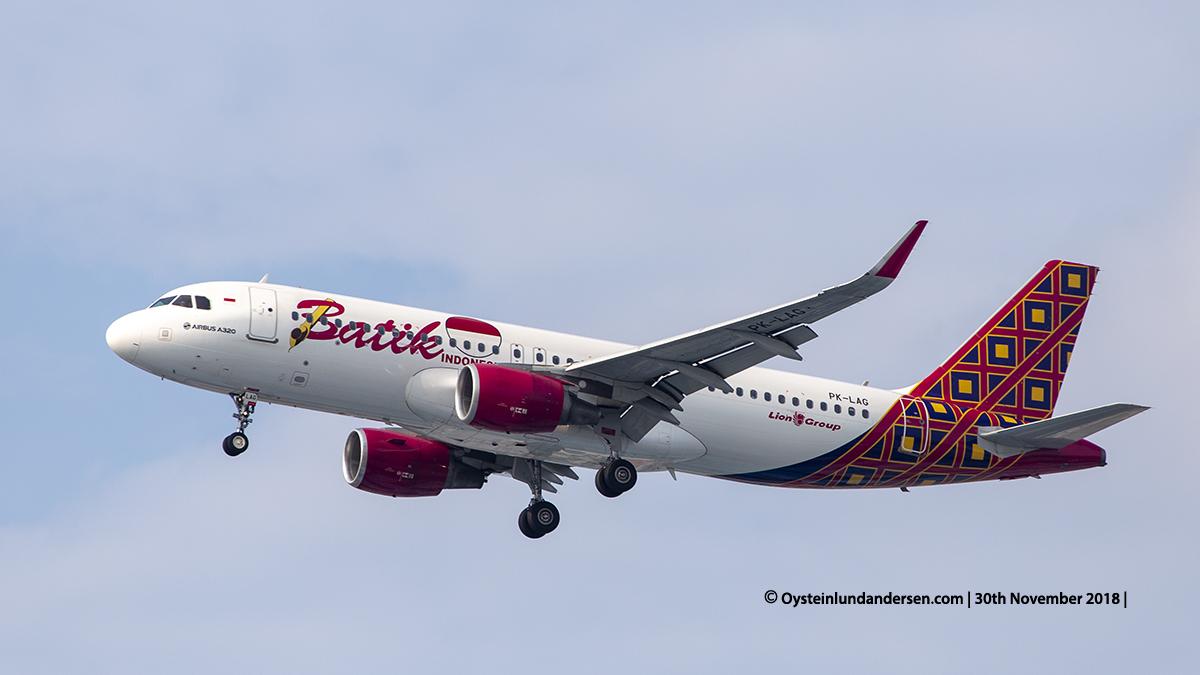 Batik Air Airbus 320-200 (PK-LAG) Jakarta airport Indonesia CGK