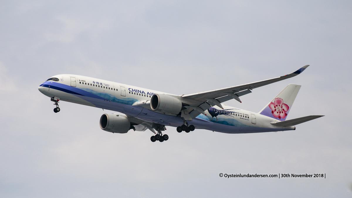 China Airlines Airbus 350-900 (B18901) Jakarta airport Indonesia CGK