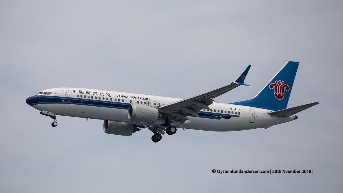 China Southern Airlines Boeing 737-8MAX (B-1207) Jakarta airport Indonesia CGK