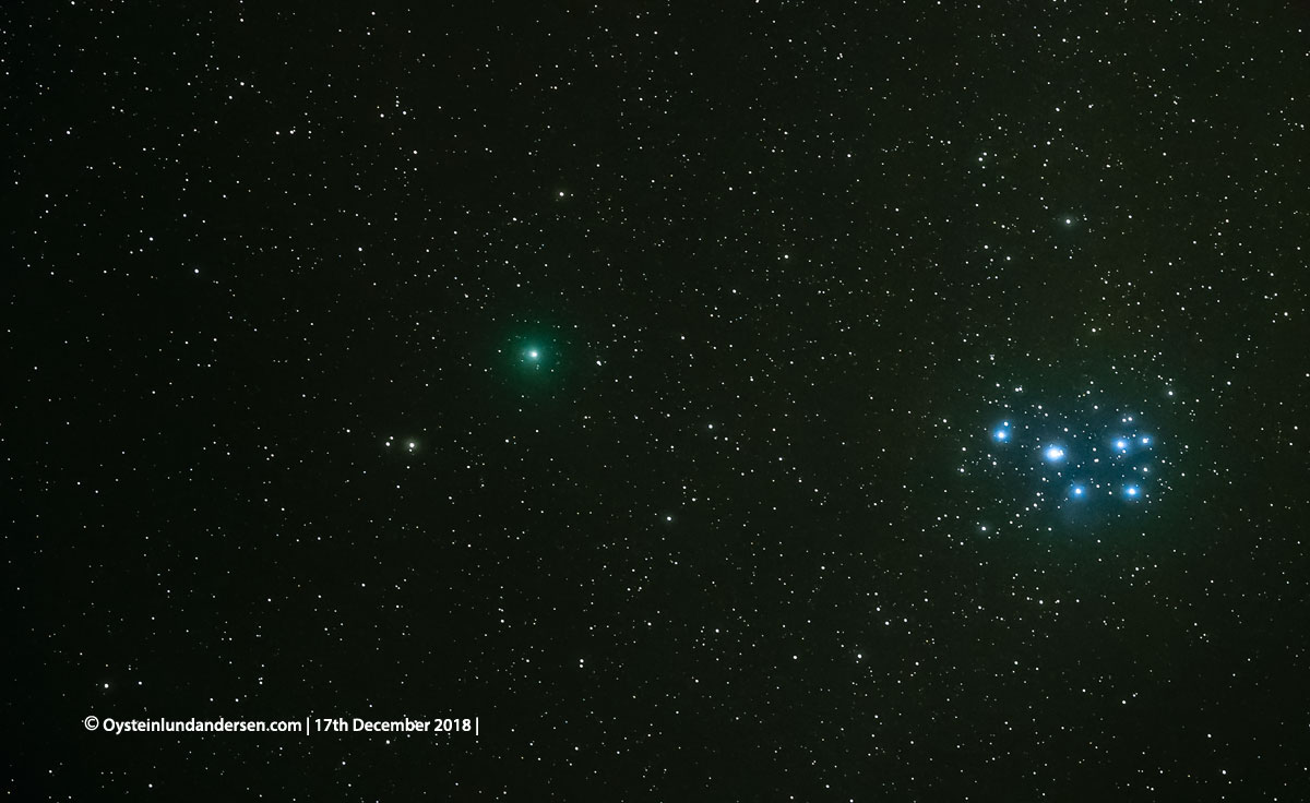 Comet 46 P Wirtanen-Bromo Indonesia 2018 December