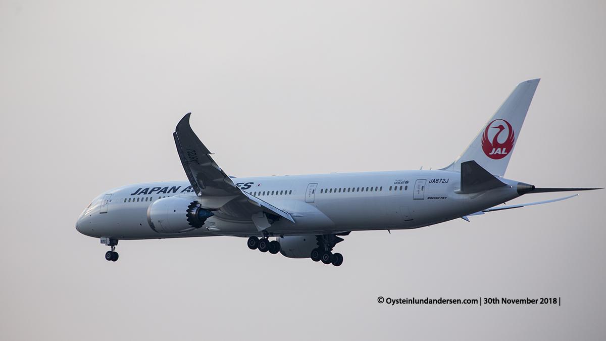 Japan Airlines Boeing 787-9 (JA872J) Jakarta airport Indonesia CGK