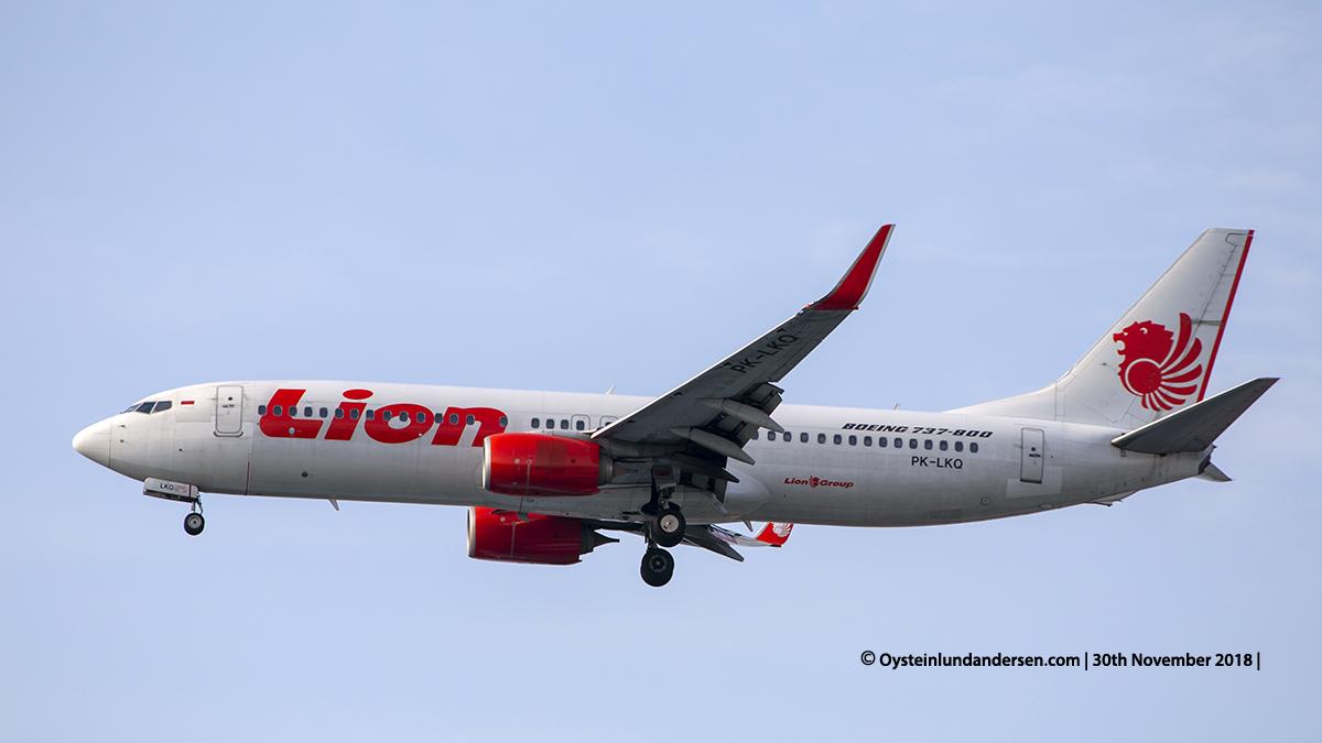 Lion Air Boeing 737-800 (PK-LKQ) Jakarta airport Indonesia CGK