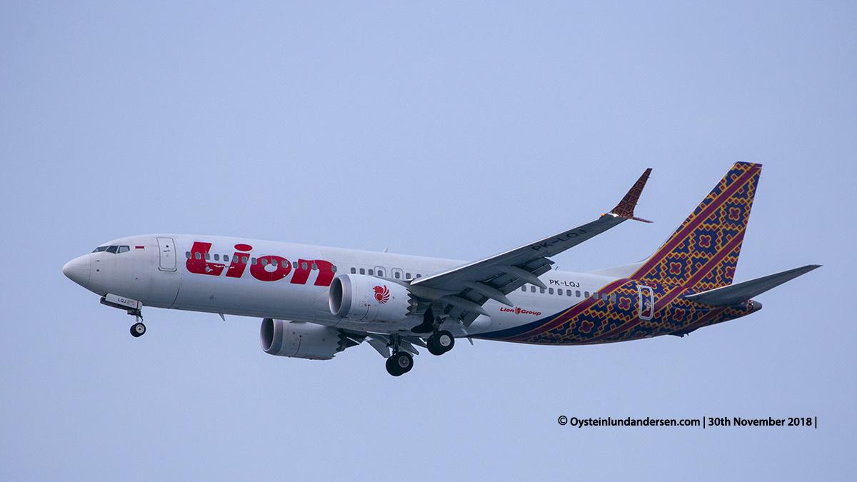 Lion Air Boeing 737-8MAX (PK-LQJ) Jakarta airport Indonesia CGK
