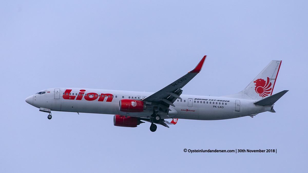 Lion Air Boeing 737-900ER (PK-LKO) Jakarta airport Indonesia CGK