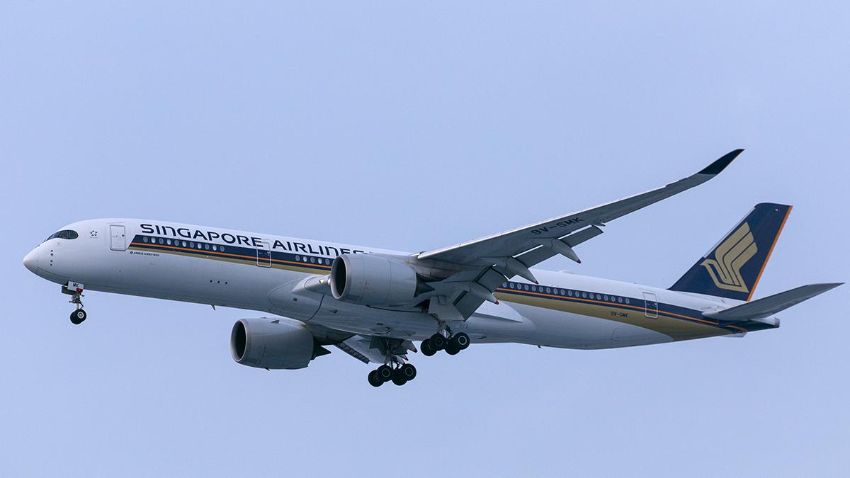 Singapore Airlines Airbus 350-900 (9V-SMK) Jakarta airport Indonesia CGK