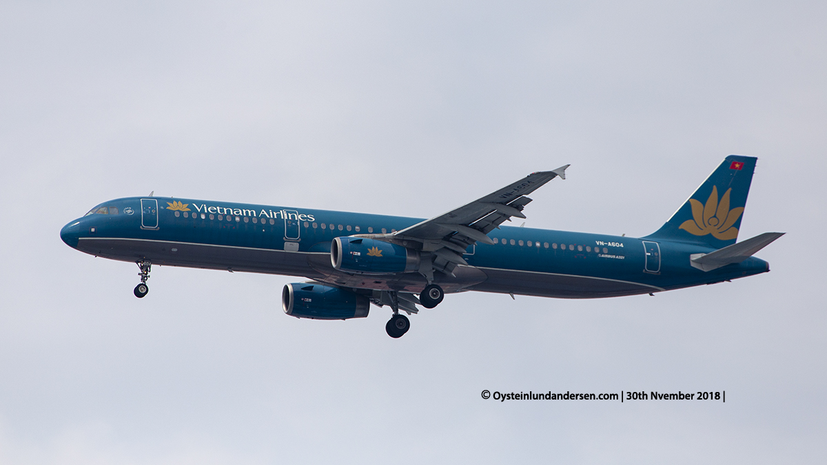 Jakarta airport Indonesia CGK Vietnam Airlines Airbus 321-200 (VN-A604)