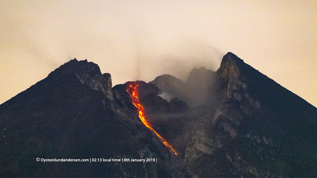 Merapi volcano lava-dome Indonesia Yogyakarta lava