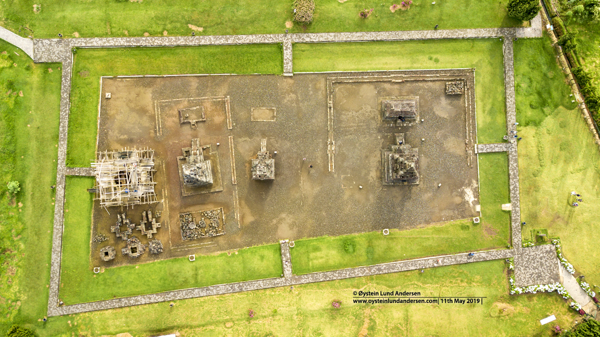Arjuna Temple Dieng Aerial Drone 2019