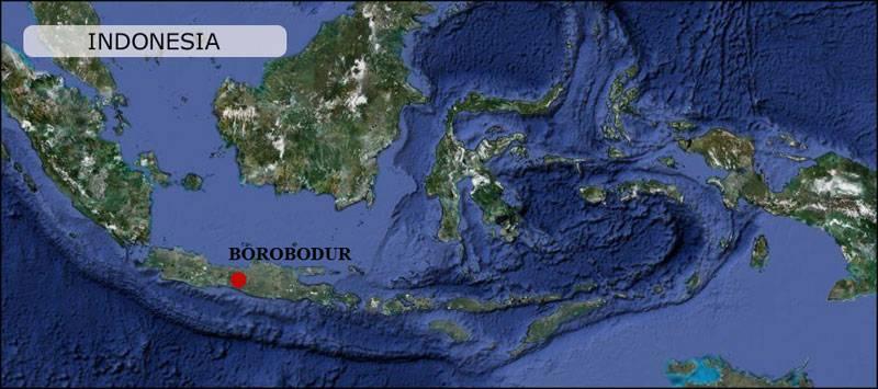 Borobodur Map Indonesia