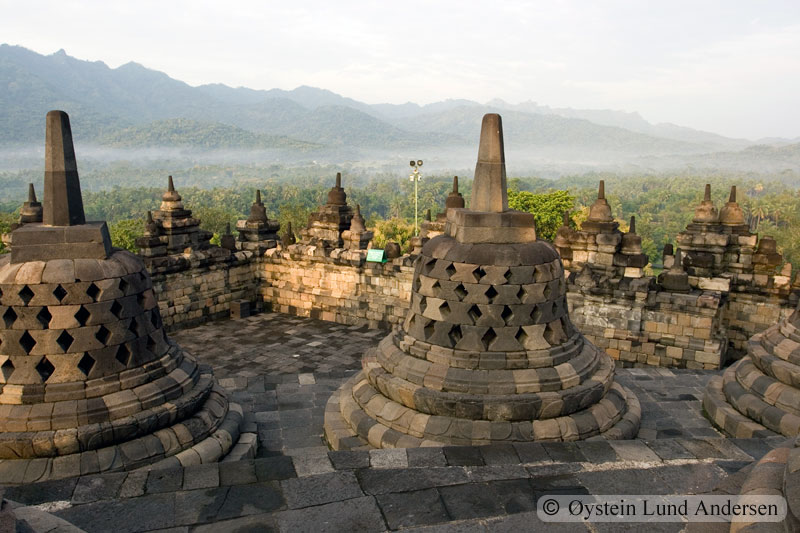 On the top of the temple