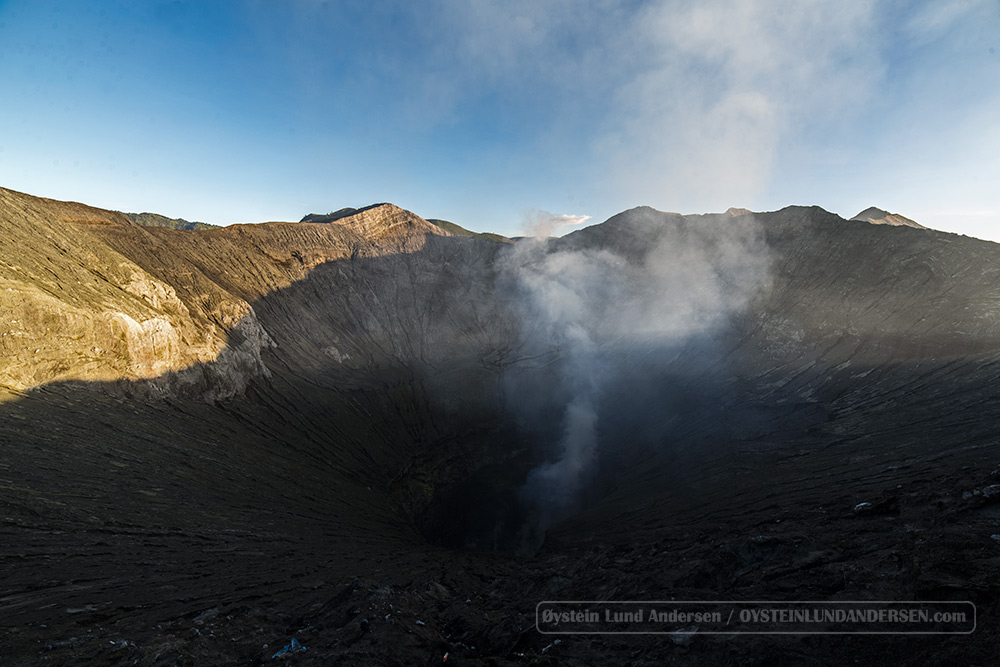 The bowl shaped crater of Bromo