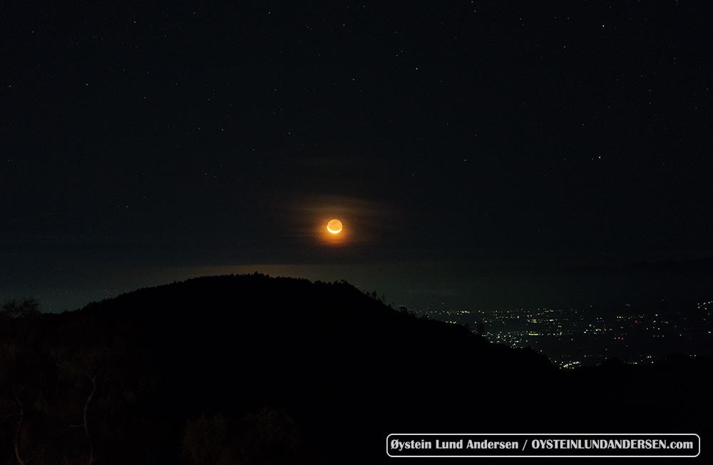 orang moon moonrise tengger caldera bromo Indonesia