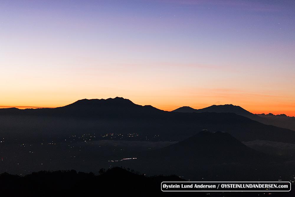 Mount Argopura and Raung in background