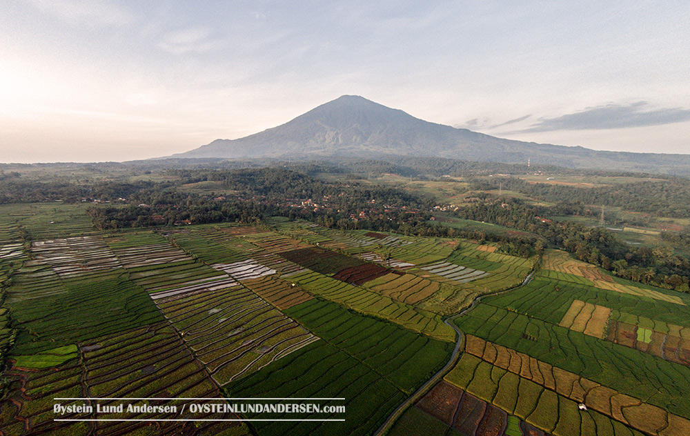 Ciremai Volcano West java Indonesia Aerial