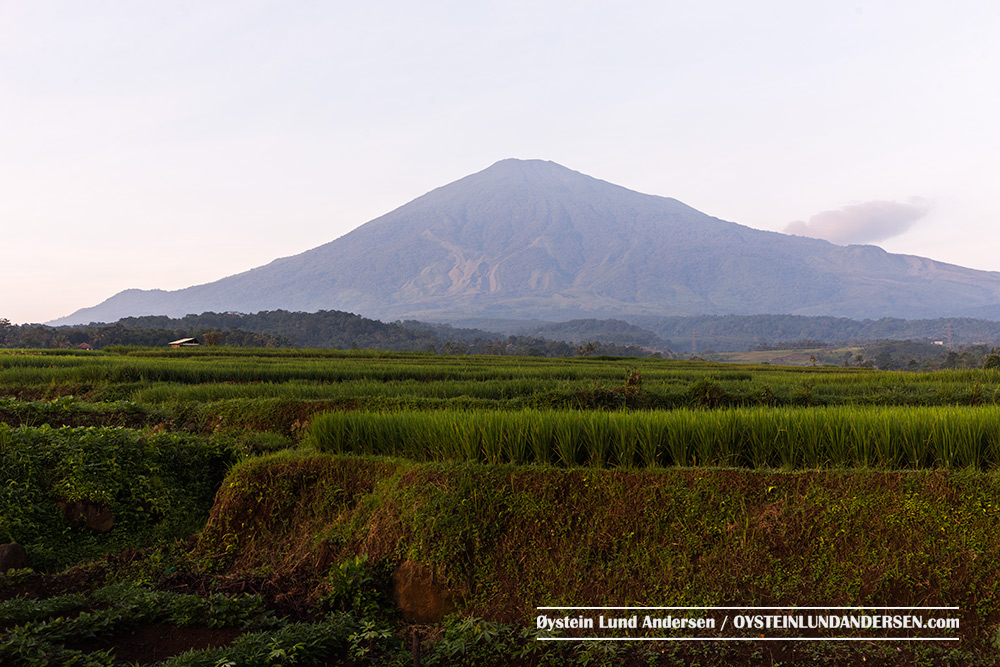 Ciremai Volcano West java Indonesia Aerial