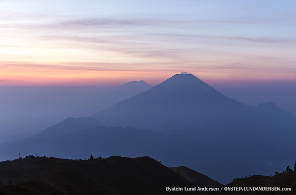 Sindoro Sundoro Volcano Central Java Indonesia