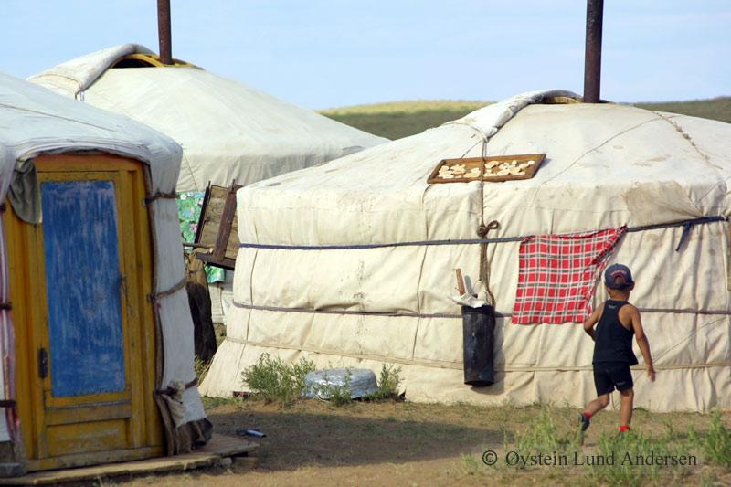 Traditional Mongolian ger.