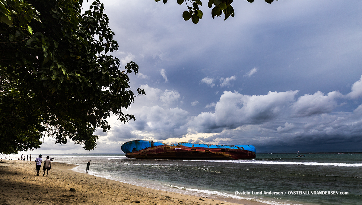 Pangandaran 2017 MV Viking ship capsized beach Indonesia