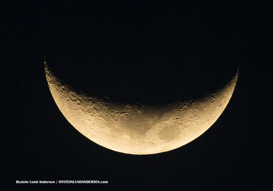 Waxing Crescent moon Jakarta Indonesia 2016