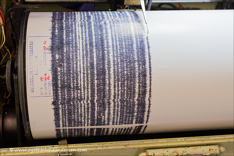Seismograph reading 3th October