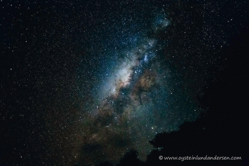 Center of the milky way galaxy seen from Krakatau