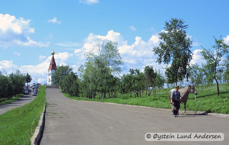Church on a hill. (Krasnoyarsk)