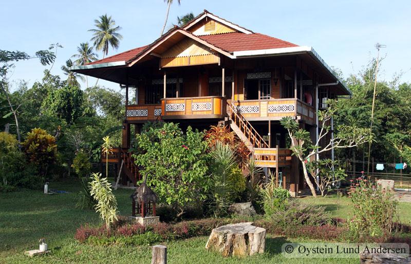 Traditional house on Bunaken island.