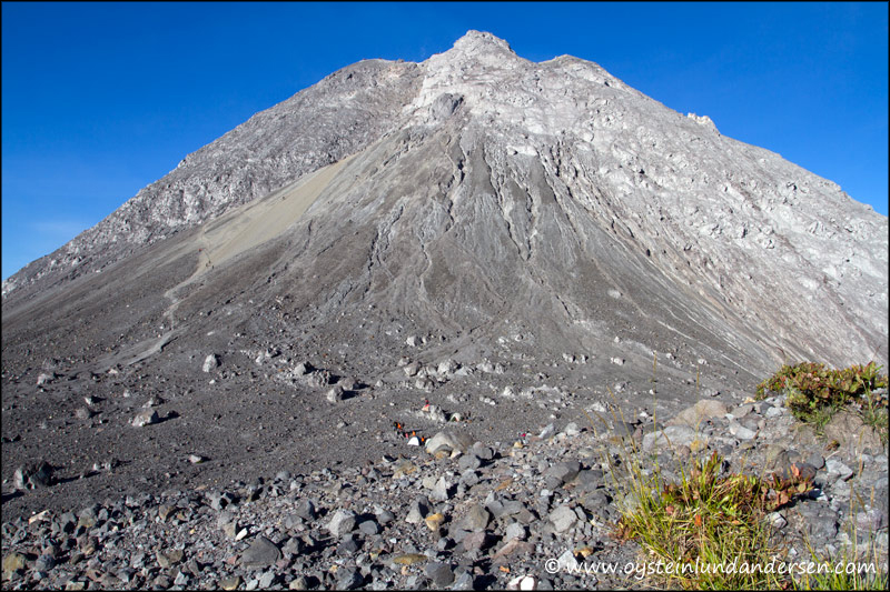 19. The western side of the peak of Merapi.