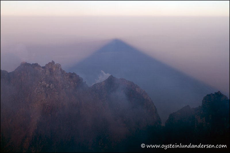 17. Merapi`s shadow.