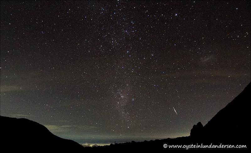 Merapi Volcano, Indonesia, hooting star, meteor