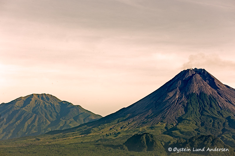 2.  Merapi with its twin brother Merbabu in the background.
