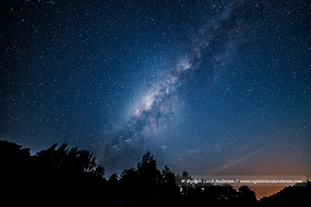 Milky way after sunset.
