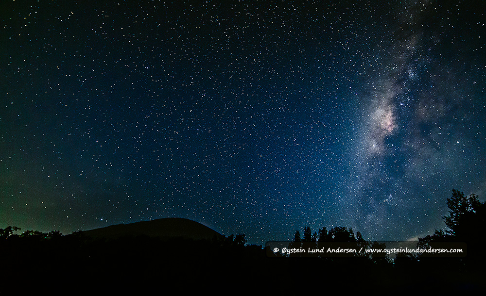 Peak of Semeru with the centre of the Milky Way.