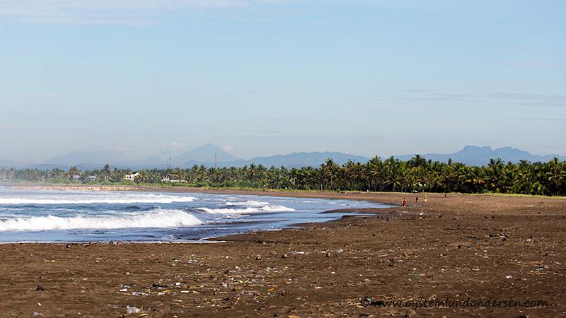 Pangandaran West Java Indonesia beach Cikuray volcano