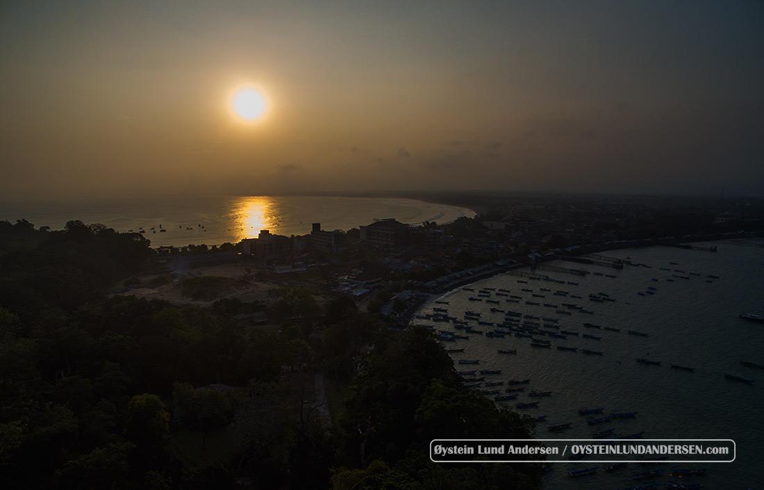 Sunset over Pangandaran
