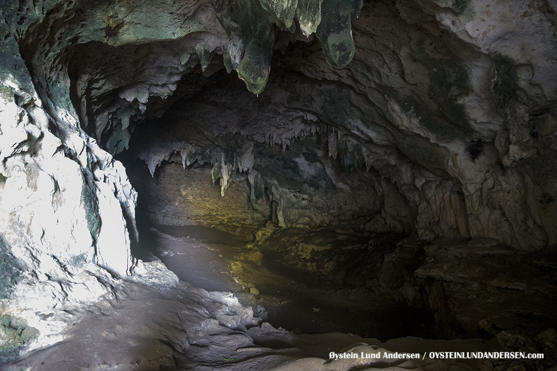 One of the many limestone caves in Pangandaran national park.