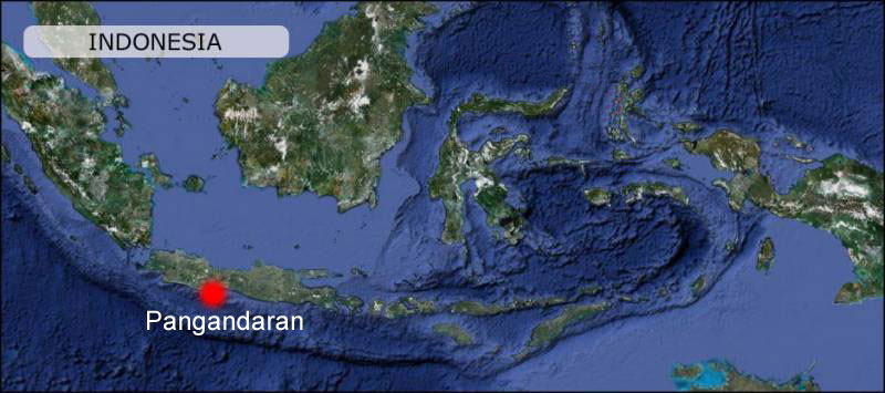 Pangandaran Map Indonesia