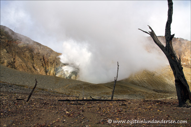 The kawah baru crater.
