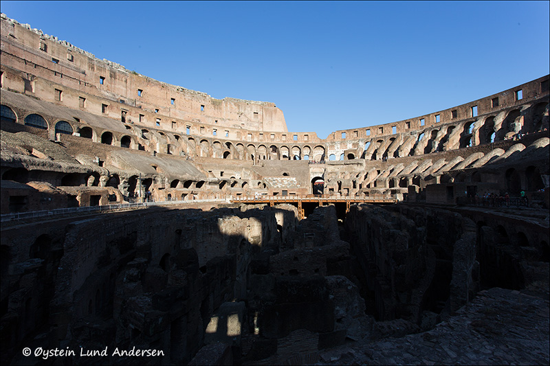 10. Inside of the Colosseum.