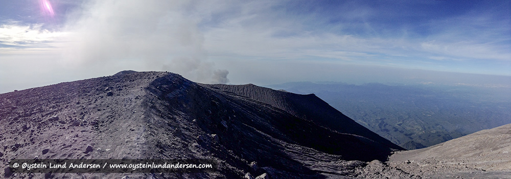 Panorama view of the crater area.