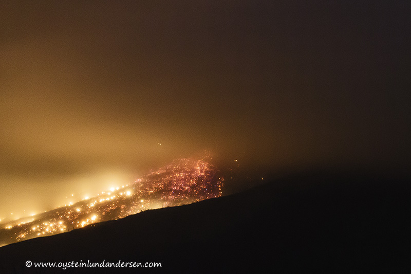 10. Glowing debris of the pyroclastic flow that started at 04:14. (12th January - 04:37)