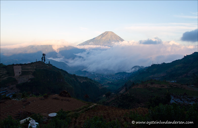 Sindoro seen from the Dieng Plateau.