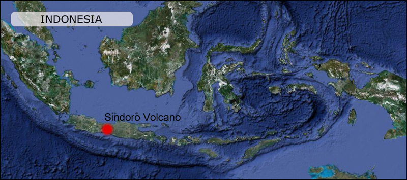 Sindoro volcano map