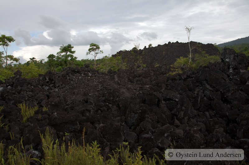 300 year old cold-lava, that the locals have named Batu Angus.