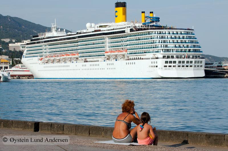 "Italian registered cruiseship ""Costa mediterranea"" visiting Yalta."